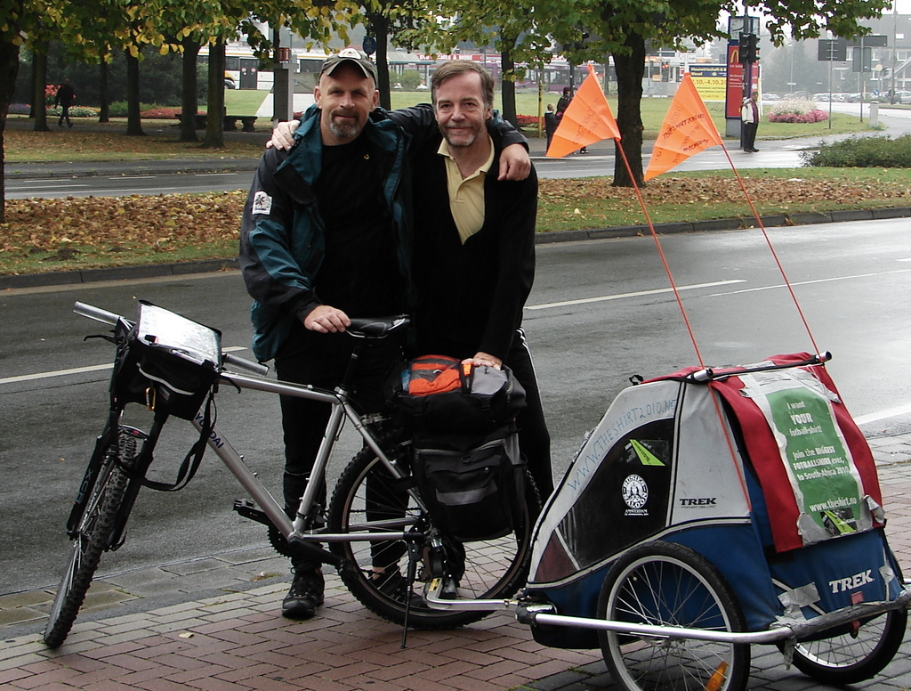 Bjorn bike and Steve