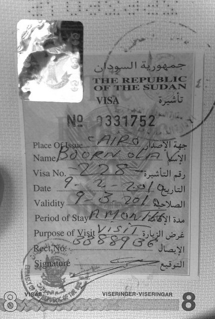 Visa for Sudan Heidenstrøm