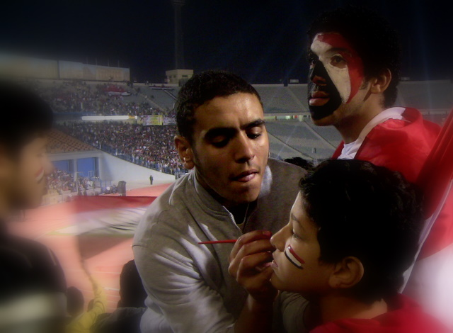 Paint and football in Egypt by Heidenstrom