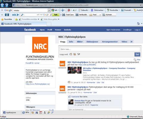 NRC på Facebook