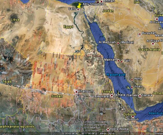 Cairo - Khartoum from www.google.com