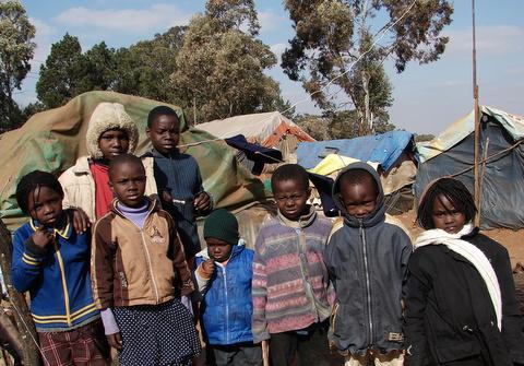 Refugee kids in South Africa by Heidenstrom