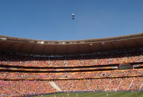 The Camera thing on Soccer City- photo by Heidenstrom