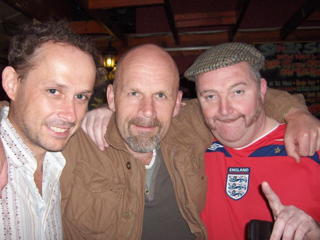 Justin, Bjørn og Gerry Blackburn-fan