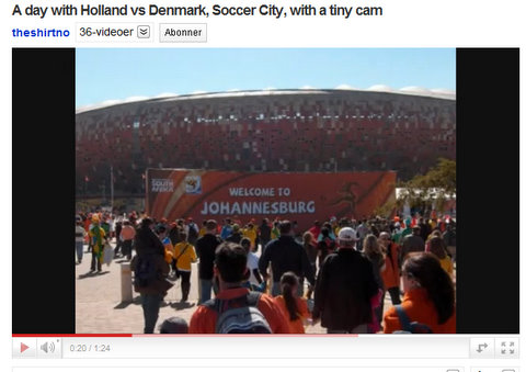 push or klick for a video about the Dutch vs Danes in Soccer City