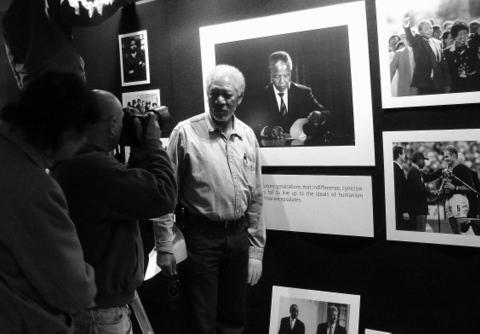 George, Ken, Morgan Freeman and Mandela by Heidenstrom