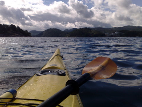 My kayak in my Vestfjorden - Sætre at 12 o clock..