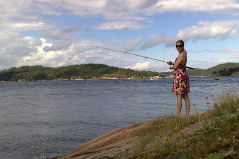 Fishing BBQ lady....