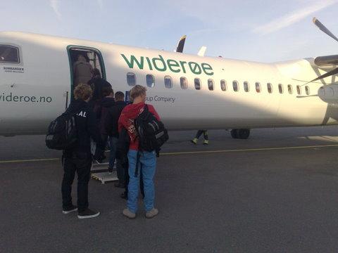 The Torp flying med The Widerøe av Heidenstrøm