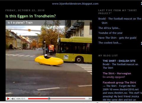 snappet i Trondheim og plasert i egen Youtube...