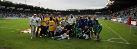 Stavanger Stadion i går. Foto; Jostein Heidenstrøm
